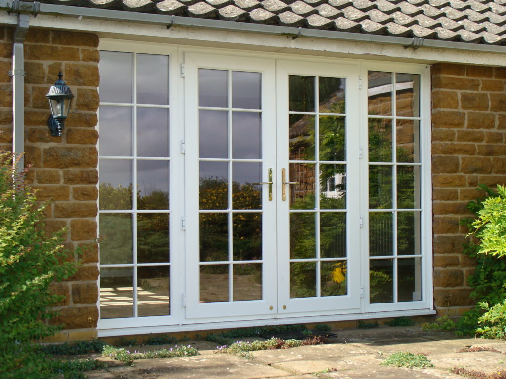 French doors d m windows nottingham for Patio doors with side windows